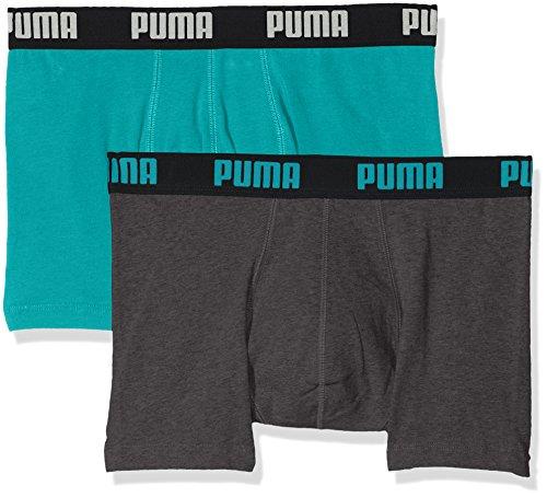 PUMA Basic Boxer 2P Unterhose XL Navigate/Grey Melange