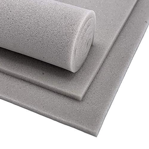 nordpott - Schaumstoff-Zuschnitt FlexLight 1000x1000x5mm (Grau) - Atmungsaktiv, schnelltrocknend, hoch-elastisch   f. Bandagierunterlagen - z. Basteln - Füllstoff - Sitz-Auflage