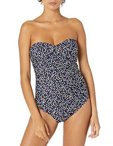 DKNY womens One Piece Swimsuit, Jet Black, X-Small US