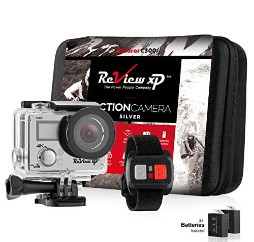 Review XP C200 16MP 4K Action Camera - Waterproof - Wi-Fi - 170° Angle Lens - Ultra HD Sports DV Digital Camcorder + 2.4g Wrist Remote Control + Bundle of 20+ Mounting Kits + Shockproof Carrying Case