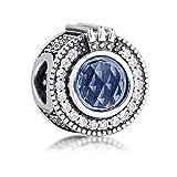 MOCCI 2020 Herbst Funkelnde Blaue Krone O Perle 925 Silber DIY Passend für Original Pandora Armbänder Charme Modeschmuck