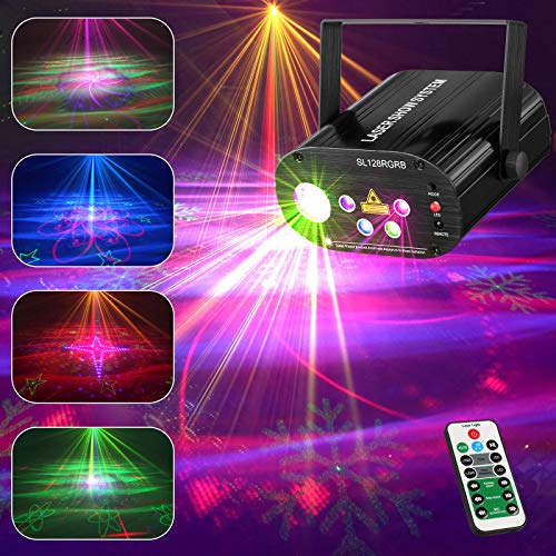 Remibel Superior Party Laser Projector Light with RGRB 5 Lens Light Source, Sound Activated DJ Disco Stage Light with 100+ Patterns (Combinations)for Stunning Light Effect, for Christmas, Music Show