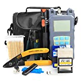 FTTH Fiber Cold Connection Tool Kit 19 in 1 with FC-6S 10KM Fiber Cleaver Visual Fault Loc...