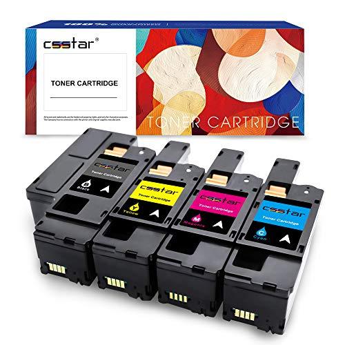 CSSTAR 4 cartuchos de tóner compatibles de repuesto para impresoras Xerox Phaser 6020 6022 WorkCentre 6025 6027 – negro, cian, magenta y amarillo