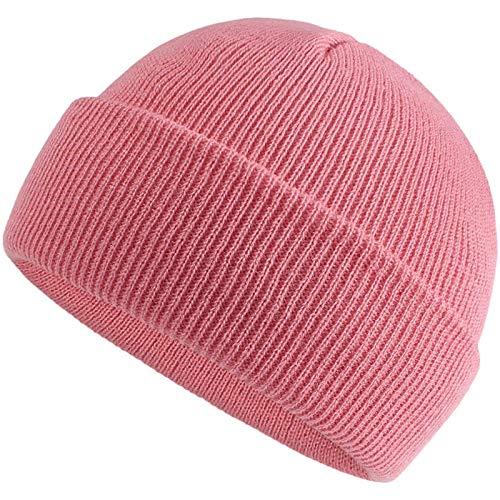 HUBA Neugeborenen Kinder Jungen Mädchen Wintermütze klassisch Einfarbig Stricken Warme Winddicht Kapuzen Mütze Beanies Hüte Ohrkappe Hut