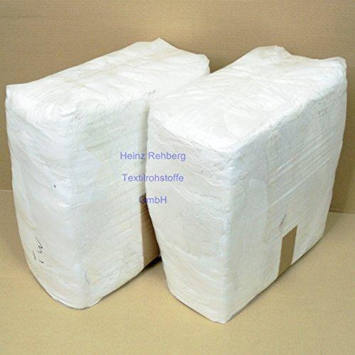 Rehberg´s 20 kg Putzlappen geschnitten aus Trikot weiss A Baumwolle Putztücher