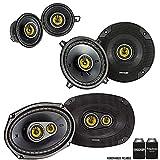 Kicker for Dodge Ram Truck 2002-2011 Speaker Bundle - CS 6x9 3-Way Speakers, CS 5.25' Speakers, and CS 3.5' Speakers
