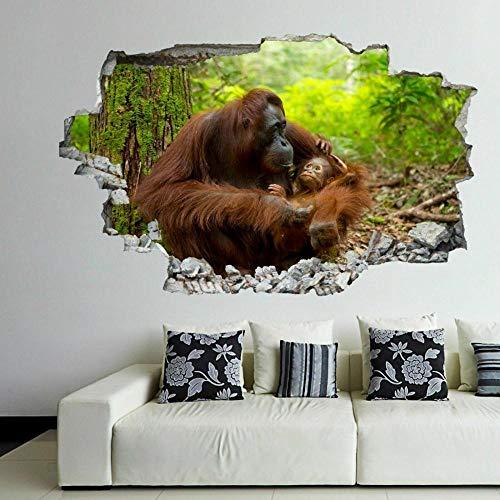 Pegatinas de pared Orangután Animal pared arte pegatinas Mural calcomanía vinilo cartel niños habitación decoración FD29
