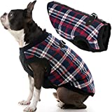 Gooby Fashion Dog Vest - White Check, Medium - Small Dog Sweater Bomber Dog Jacket Coat with D Ring Leash and Zipper Closure - Dog Clothes for Small Dogs Girl or Boy for Indoor and Outdoor Use