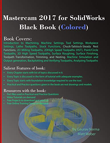 Mastercam 2017 for SolidWorks Black Book (Colored)