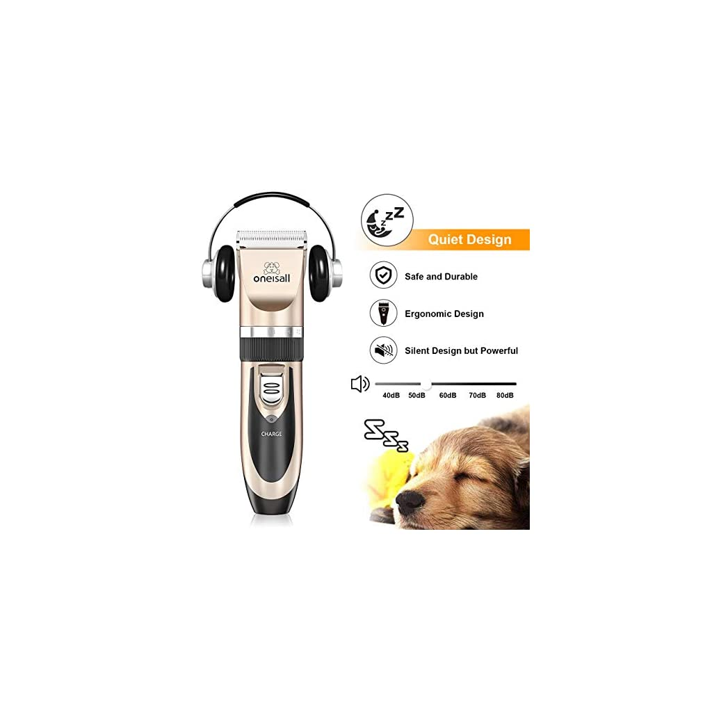 Oneisall Rechargable Dog Grooming Clippers
