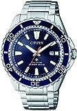 CITIZEN Herren Analog Solar Uhr mit Edelstahl Armband BN0191-80L