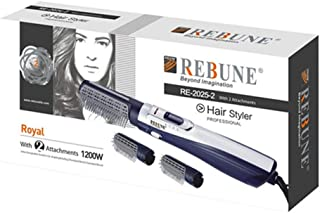 Rebune Hair Styler 3 in 1 Hair Style 1200 Watts, Blue, RE-2025-2
