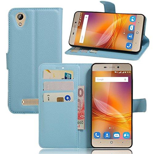 Guran® Ledertasche Tasche für ZTE Blade A452 Smartphone Flip Cover Standing Funktion und Kartensteckplatz Handytasche Wallet Case