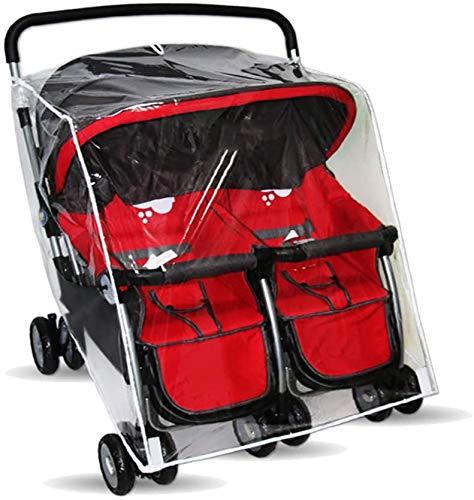 HFJKD Universal Stroller Raincover Twins Strollers Rain Cover for Pushchair Pram Buggy Rainproof Dustproof Windproof Rain Cover