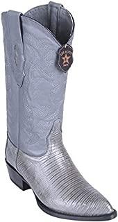 Original Grey Lizard Teju LeatherJ-Toe Boot