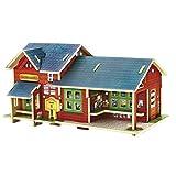 RecontraMago Puzzle 3D - Colección Casas y Edificios del Mundo - Rompecabezas de Madera- Juguetes para niños y Adultos … (Japon Tienda) (Tienda Noruega)