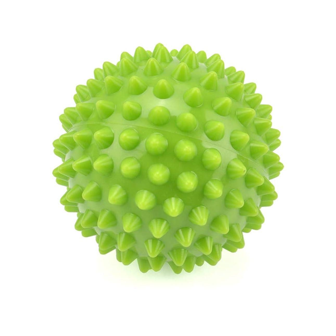 まばたきケニア休戦とがったローラーボール筋肉リラクゼーションマッサージボール、足底筋膜炎/トリガーポイント/深部組織/筋筋膜リリース8.5CmのためのエクササイズヨガPVCラクロスボール,Green