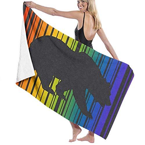 Hotyle Oso Orgullo Gay Bandera LGBT Toallas De Baño De Playa Temáticas 80X130 Cm