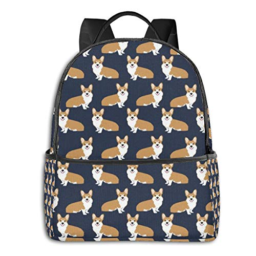 Cute Puppy Corgi High School Boys Outdoor Cycling Backpack Girls High Capacity Antitheft Backpack