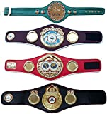 WBC WBA WBO IBF Championships - Cinturón de boxeo réplica mini 4 cinturones