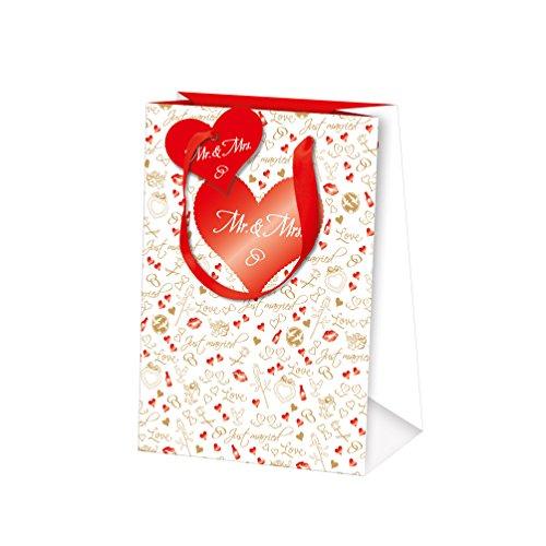 Susy Card 11414539 Geschenkverpackungen Motiv: Just Married Papier, mattfolienkaschiert