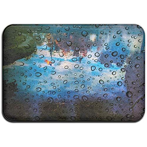 Drops Van Water Buiten Het Raam Outdoor Rubber Mat Voordeur Matten Veranda Garage Grote Stroom Slip Entry Tapijt