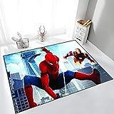 Yugy Alfombra niños Dibujos Animados Anime Spider-Man Moderna Sala de Estar Dormitorio decoración del hogar Alfombra de jardín de Infantes 80 * 120 cm