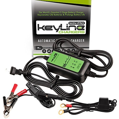 Read About KeyLine Chargers KC-75A-MP 12V 0.75 Amp Automatic Mini Pro Car Battery Charger (5 Stage M...