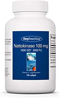 Allergy Research Group - Nattokinase NSK-SD 100mg - Cardiovascular/Circulatory Health - 180 Softgels