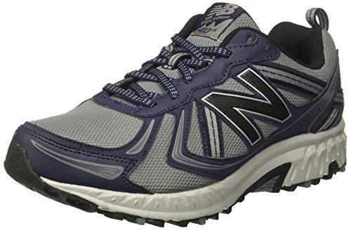 New Balance Men's MT410v5 Cushioning Trail Running Shoe, Grey/Blue, 10 M US