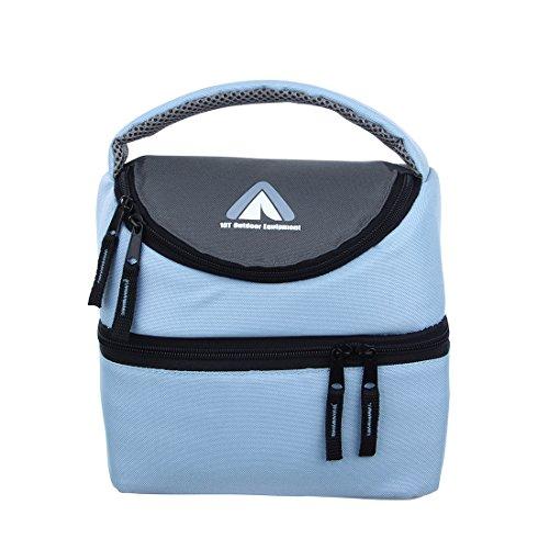 10T Fridgo Bag 5 L Kühltasche faltbare Thermotasche passive Kühlbox mit 2 Fächern und Tragegriff