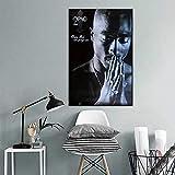 KWzEQ Cartel de la Estrella del Cantante de música e Imagen de la Pared del Arte de la impresión decoración Moderna del hogar,Pintura sin Marco,50X75cm