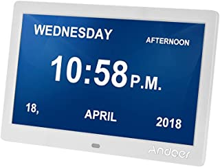 Andoer 10 Inch Digital Alarm & Photo Frame LED Screen Simple Eletronic Photo Album Support Clock/Calendar/Time Setting/Mus...