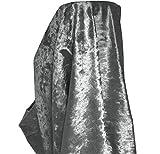 A-Express Premium Morbida Velluto Schiacciato Tessuto Materiale Tenda Cuscino Tappezzeria per sartoria 140cm Larghezza - 1 Metro 100cm x 140cm Grigio acciaio