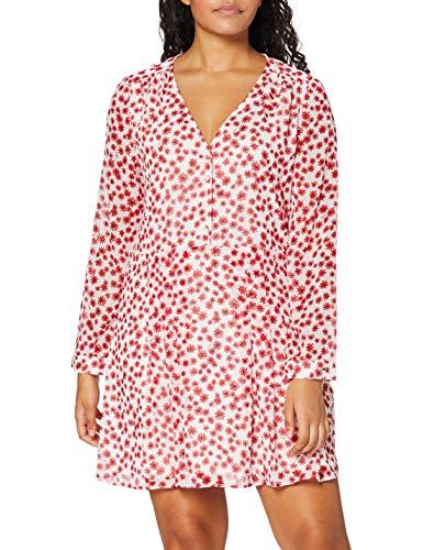 Tommy Hilfiger Damen Tjw Printed Button Thru Dress Kleid, RWB Flower Print, M