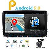 Autoradio Android 9.0 2 DIN avec DSP WiFi pour Volkswagen VW Passat Polo Golf Caddy Touran Jetta T5 Seat Sharan MK5 MK6 EOS Bluetooth Support GPS WiFi USB