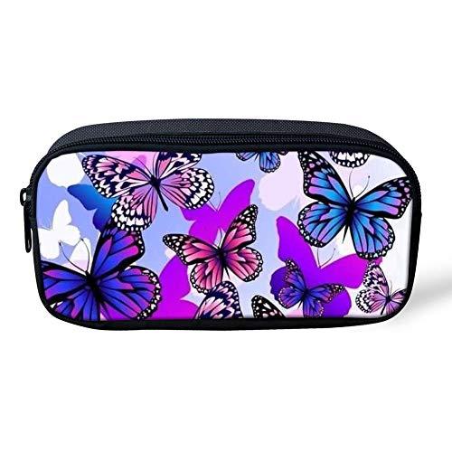 Mariposa impresa mujeres niñas al aire libre maquillaje cosmético neceser