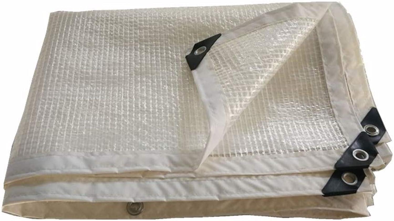 Pengbu Verdicken Sie die Plane Wasserdicht, Weiße Transparente Plastikfolie Gewächshausfolie Isolierung Regenschutztuch, Raster 0.33mm B07PFDK5WK  Komfortabel und natürlich