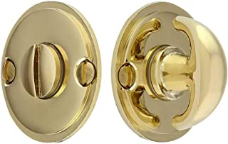 Thumbturn Privacy Door Bolt in Polished Brass
