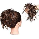 Moda Natural Extensiones de cabello Moño Scrunchie Cola de Caballo Messy Scrunchie UPDOS Marrón Rubia Ombre mix Castaño claro a marrón