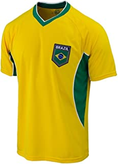 Brasil Soccer Jersey Brazil Adult Training Custom Name and Number - ADD ANY Name and Number (M, NO -NAME)