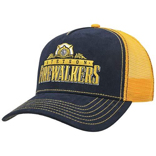Stetson Firewalkers Trucker Cap Basecap Truckercap Baseballcap Meshcap Herren - Snapback, mit Schirm, Futter, Futter Frühling-Sommer Herbst-Winter - One Size blau-gelb