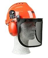 Combinaison de sécurité optimale: le casque de sécurité Yukon a des protections auditives intégrées et une visière en maille d'acier Résistant aux chocs: casque de sécurité solide, durable et léger, adapté au travail à la tronçonneuse et autres tâche...