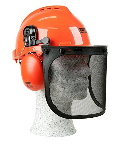 Oregon-Yukon-Kettensägen-Sicherheitshelm mit Gehörschutzmanschette und Netzvisier, Schlagfeste, Bequeme Schutzhelm-Sicherheitsausrüstung (562412)
