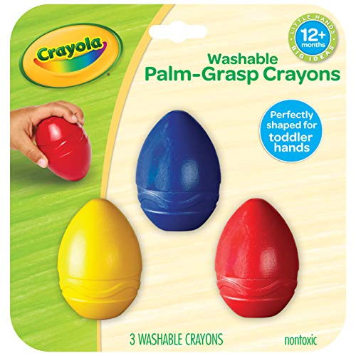 Crayola My First Palm Grip Crayons, 3ct, Coloring for Toddlers