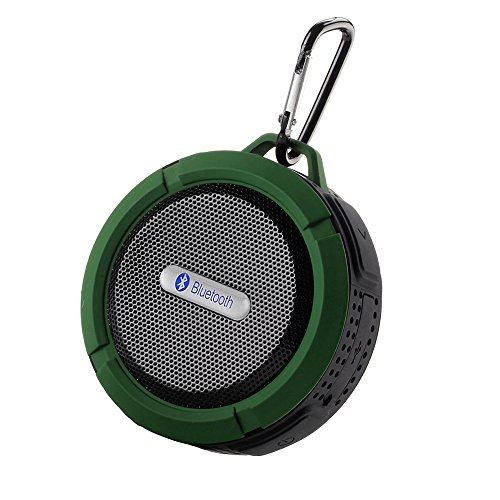 Patuoxun - Mini casse wireless Bluetooth 3.0 impermeabili, utilizzabili in doccia, con microfono integrato, per Apple iphone 4/4S,iPhone5/5S, ipad ipod Sumsang galaxy S4, Note3, Tablet e altri dispositivi Bluetooth 3° generazione Green`