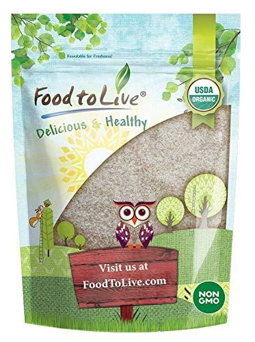 Food to Live Organic Psyllium Husk Powder (Non-GMO, Raw, Kosher, Ultra Fine, Unsweetened,...