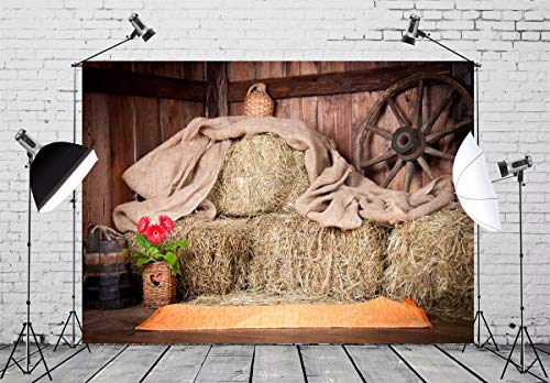 10x6.5 ft Wooden Barn Photo Backgrounds Retro Photography Backdrop Photo Booth Props