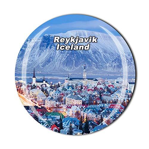 Imán para nevera de Islandia Reikiavik, regalo de recuerdo de viaje, decoración para el hogar, cocina, pegatina magnética, colección de imanes para nevera